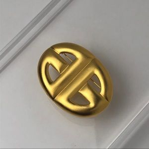 """VTG 80s GIVENCHY DOUBLE """"G"""" LOGO BROOCH"""